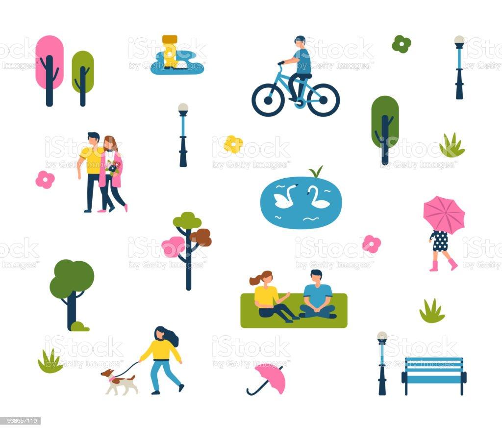 park vector art illustration