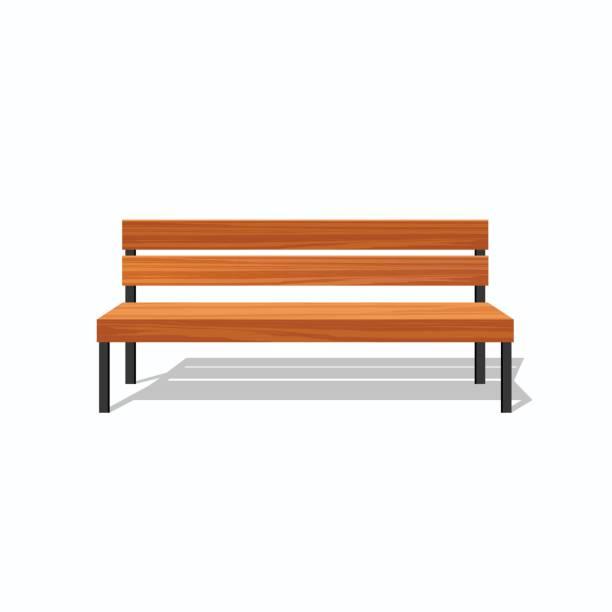 bildbanksillustrationer, clip art samt tecknat material och ikoner med trä parkbänkar och stål - bench