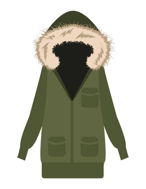 parka flaches design - parkas stock-grafiken, -clipart, -cartoons und -symbole