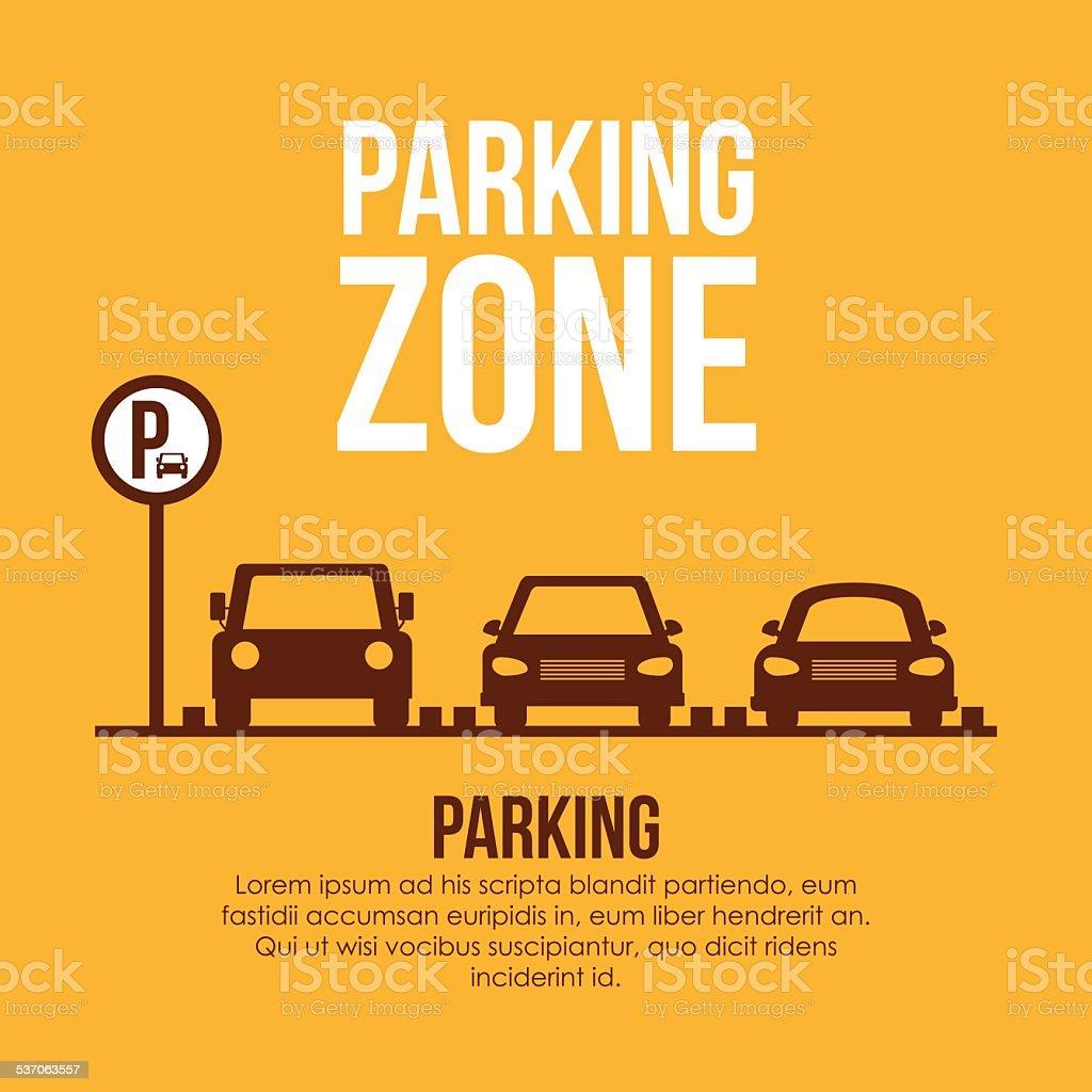 Parking design over yellow background vector illustration vector art illustration