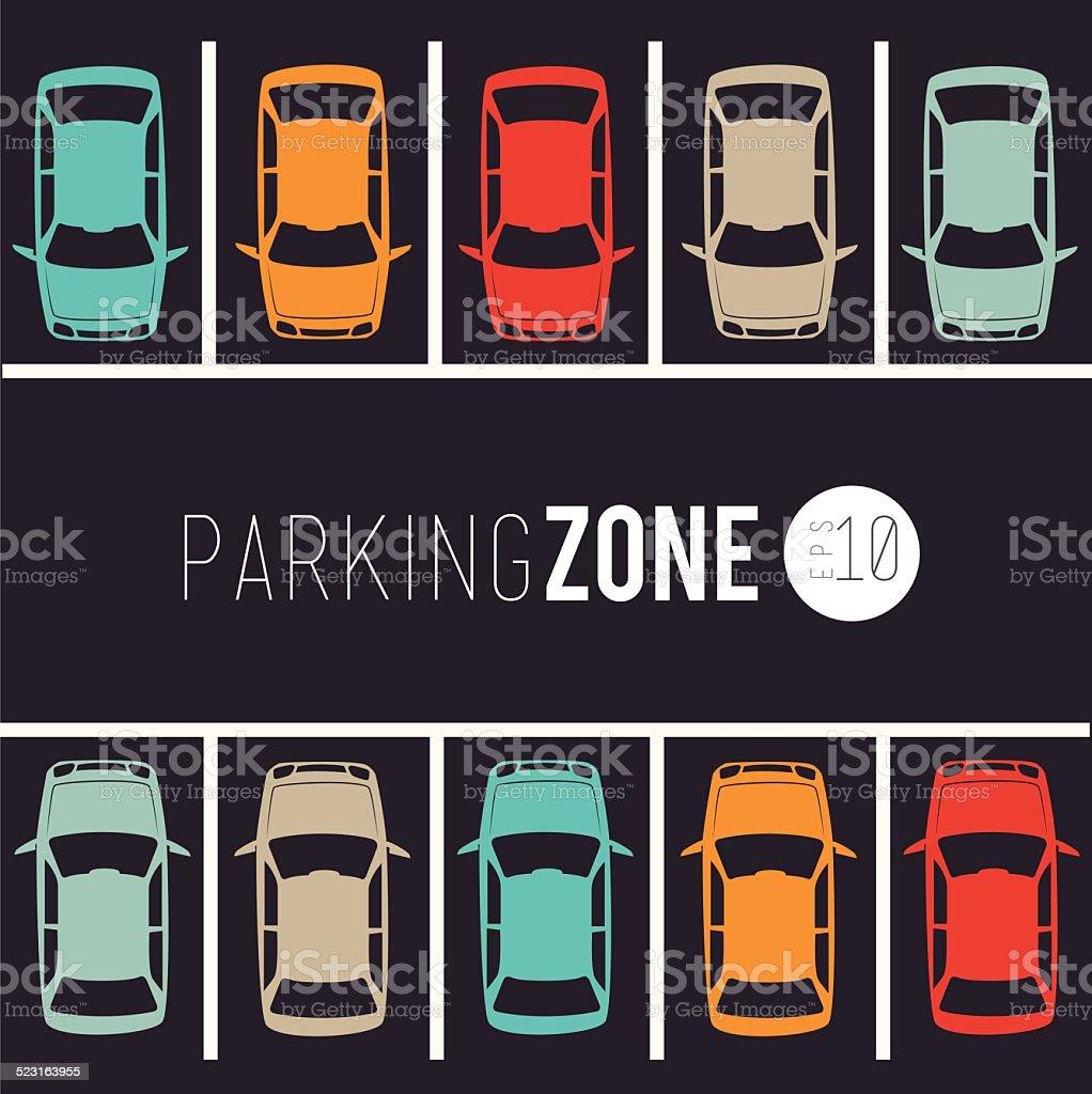 Parking design vector art illustration
