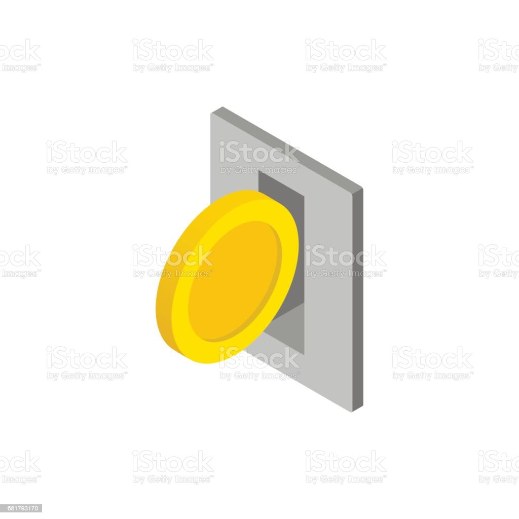 Parking fees icon, isometric 3d style vector art illustration