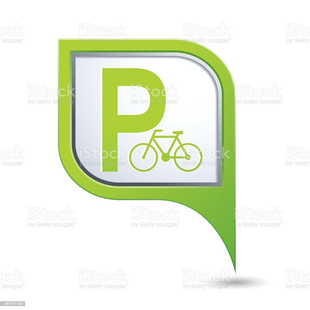 Parking for bicycle icon on map pointer royalty-free parking for bicycle icon on map pointer stock vector art & more images of bicycle