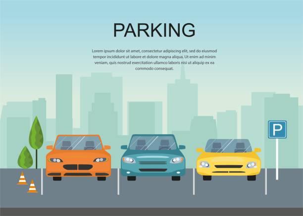 illustrations, cliparts, dessins animés et icônes de conception de parcs de stationnement. icône du parc. infographie - gare