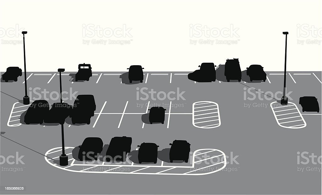 Parking Lot Vector Silhouette royalty-free stock vector art