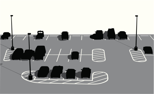 Parking Lot Vector Silhouette