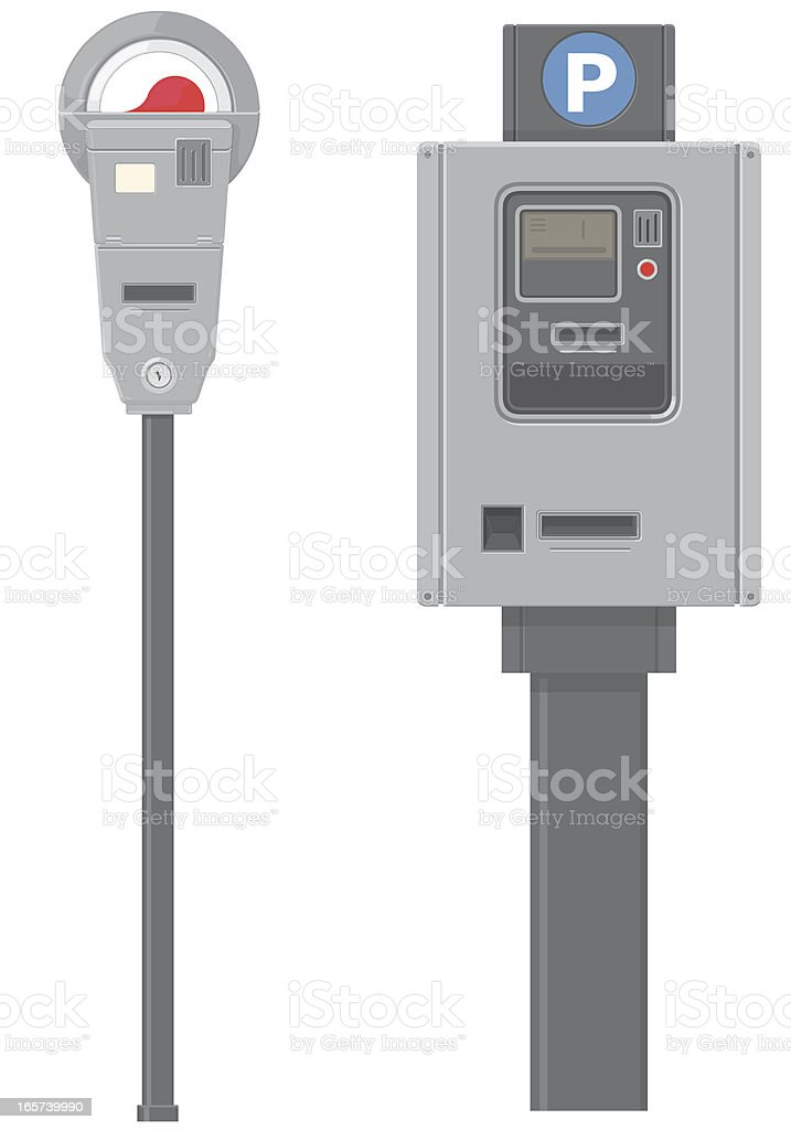 Parking Meter vector art illustration
