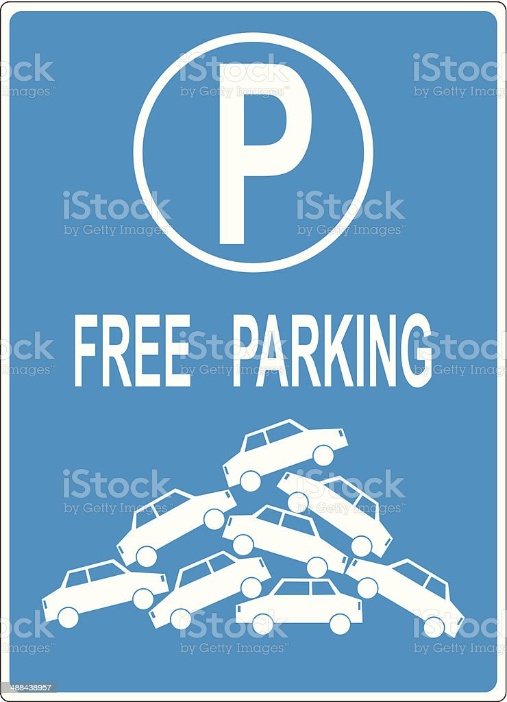 Parking problem vector art illustration