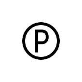 Letter P, Parking Sign, Parking, Symbol