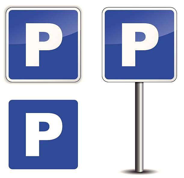 stockillustraties, clipart, cartoons en iconen met parking sign - parking