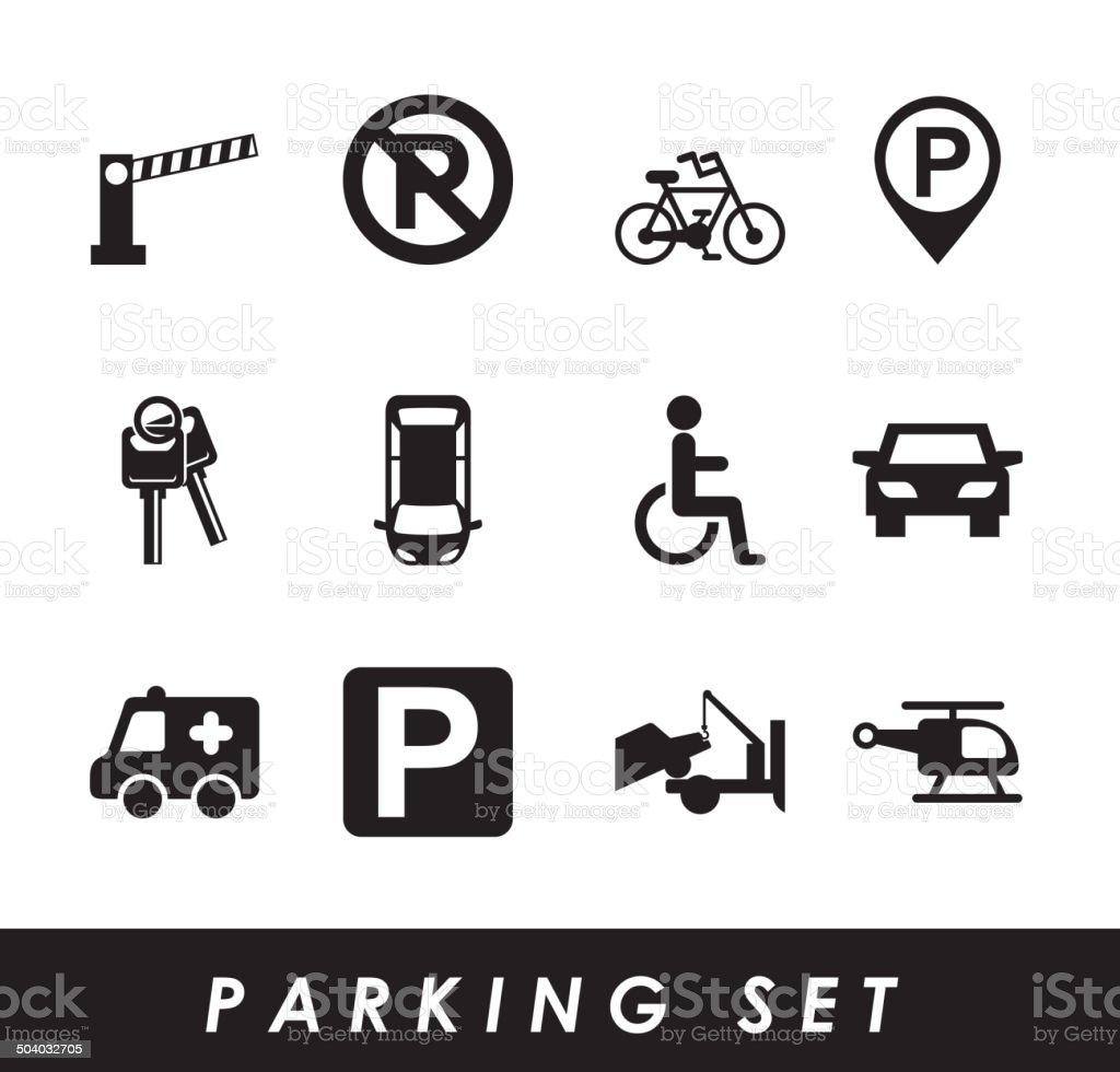 parking signal vector art illustration
