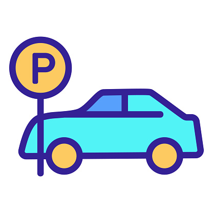 Parking space icon vector. Isolated contour symbol illustration