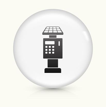 Parking Ticket Payment Machine icon on white round vector button