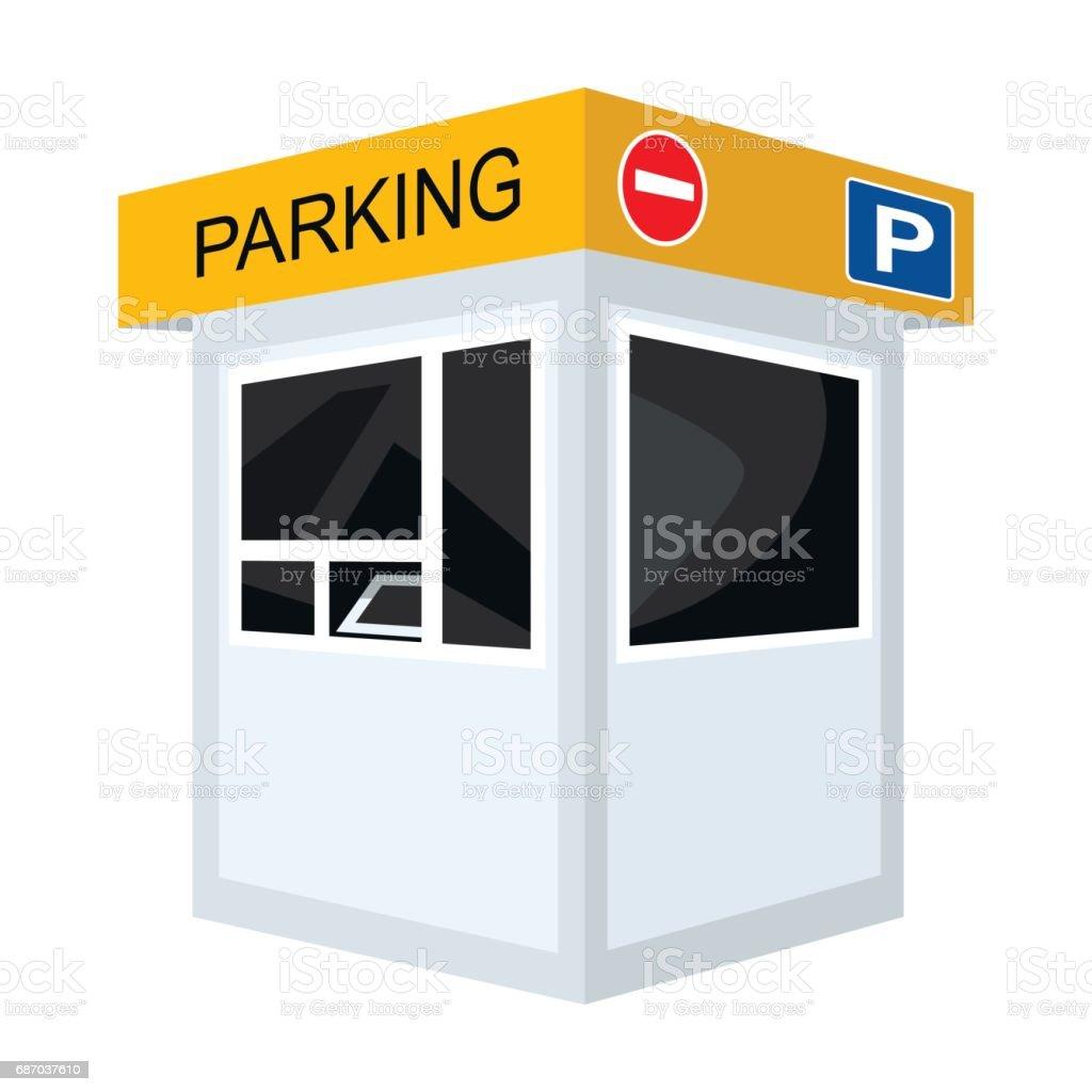 Ilustración de Icono De La Cabina De Peaje De Estacionamiento En ...
