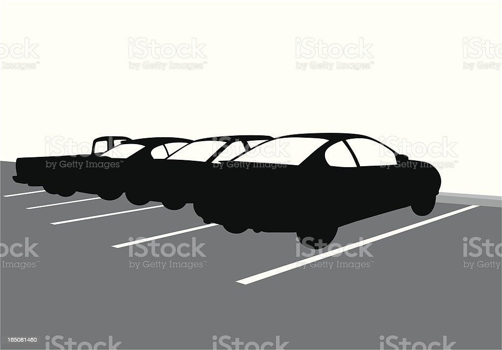 Parking Vector Silhouette royalty-free stock vector art
