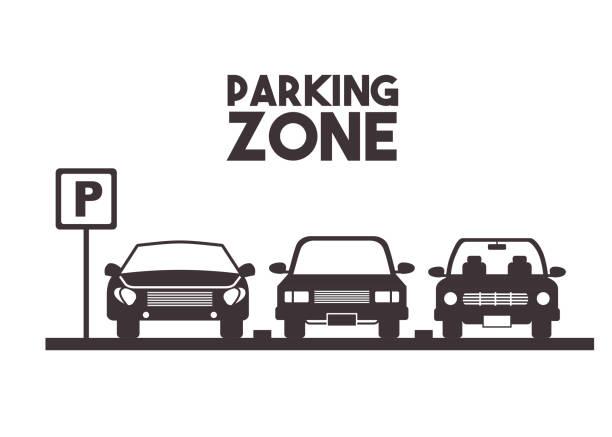stockillustraties, clipart, cartoons en iconen met parkeren zone ontwerp - parking