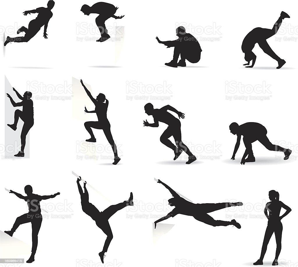 Parkour action - Illustration vectorielle