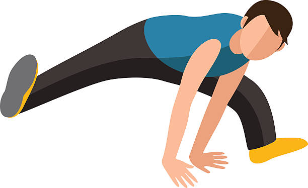 bildbanksillustrationer, clip art samt tecknat material och ikoner med parkour trick people extreme sport cartoon vector silhouette - parkour