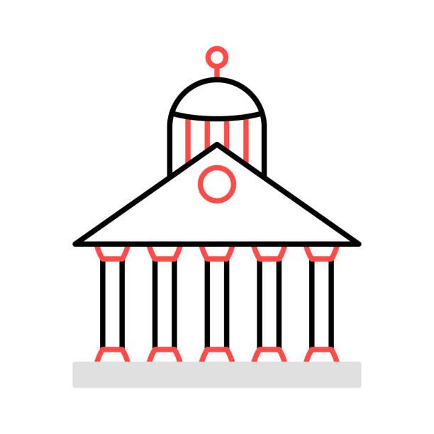 bildbanksillustrationer, clip art samt tecknat material och ikoner med riksbanks domstol - canberra skyline