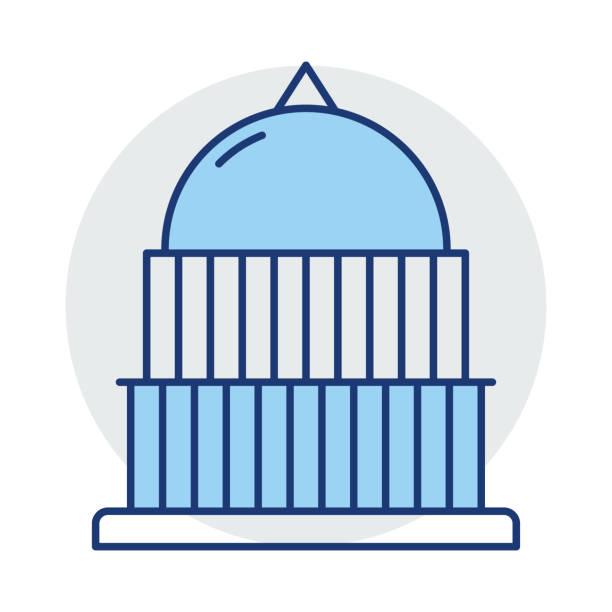 bildbanksillustrationer, clip art samt tecknat material och ikoner med riksdagen val byggnad - canberra skyline