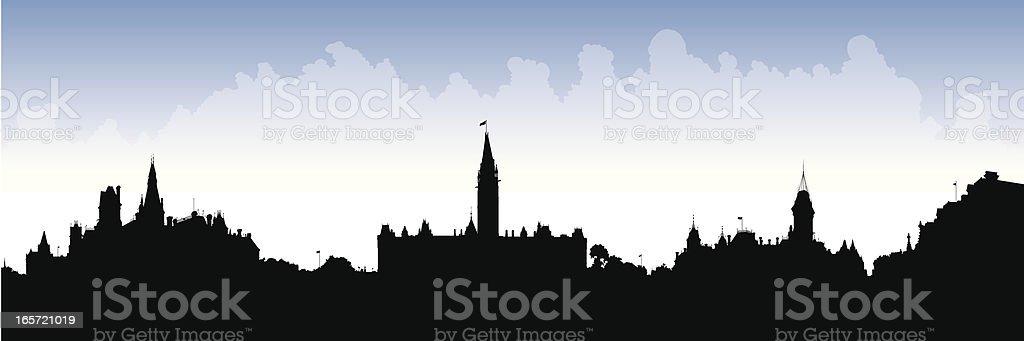 Parliament Hill, Canada vector art illustration