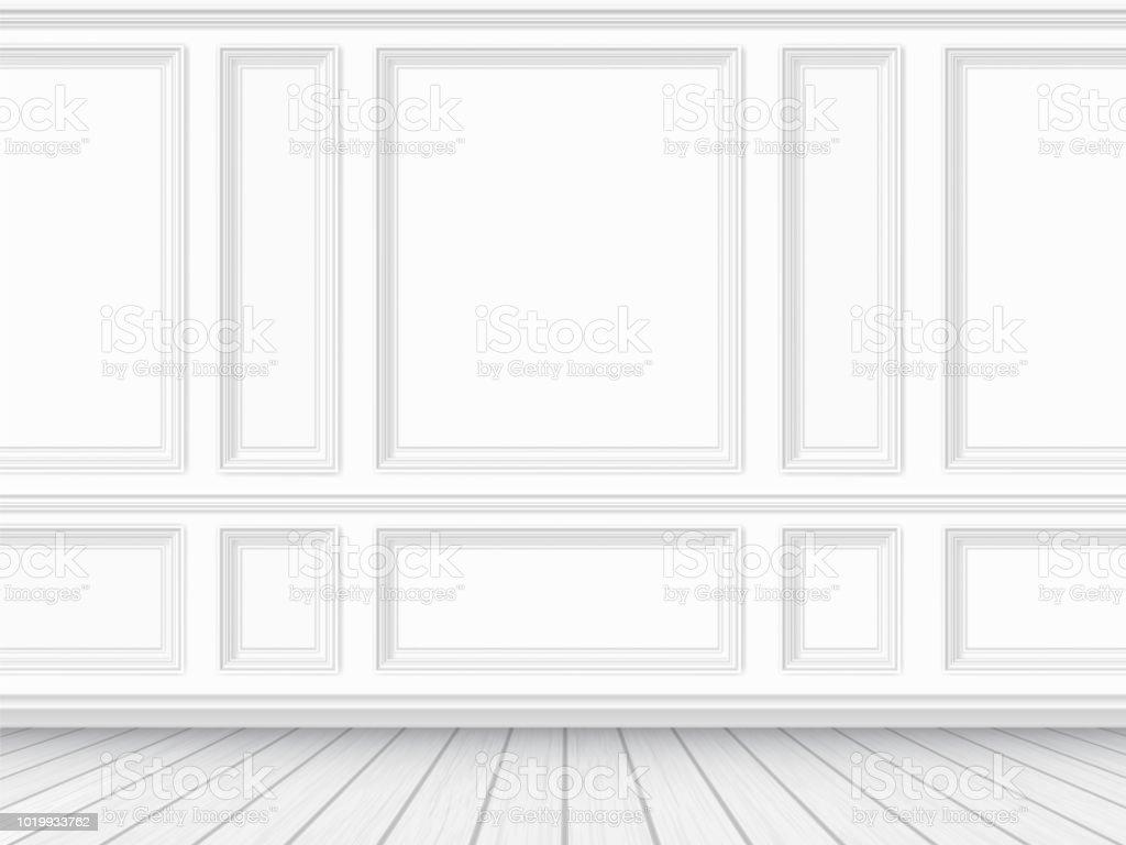 Sol en parquet et fond blanc mur préfini sol en parquet et fond blanc mur préfini vecteurs libres de droits et plus d'images vectorielles de antiquités libre de droits