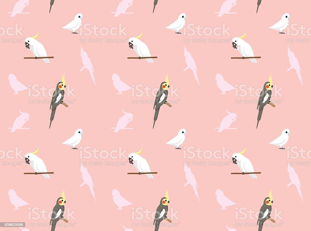 Parrot Cockatiel Corella Cockatoo Wallpaper vector art illustration
