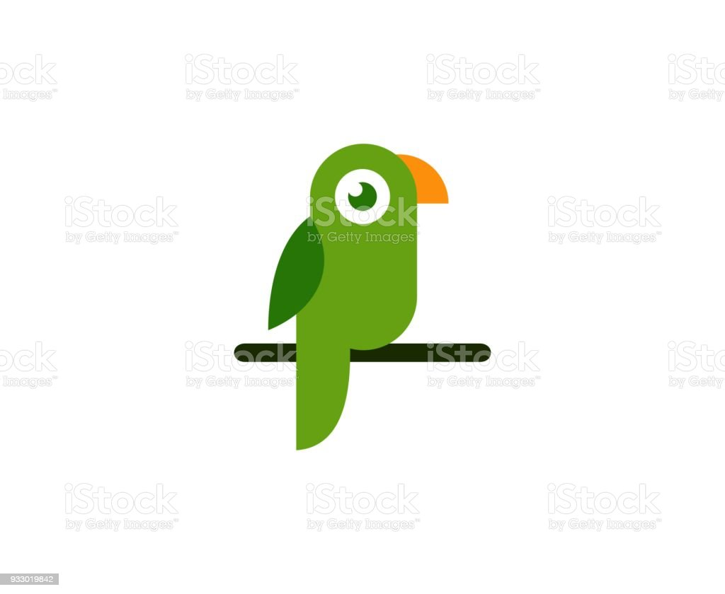 Parrot icon royalty-free parrot icon stock illustration - download image now