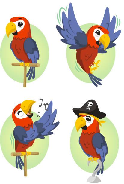 Parrot Scarlet Ara Sittich – Vektorgrafik