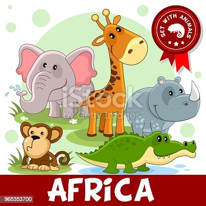 1 Part Animals Of Africa Stock Vector Art & More Images of Africa 965353700
