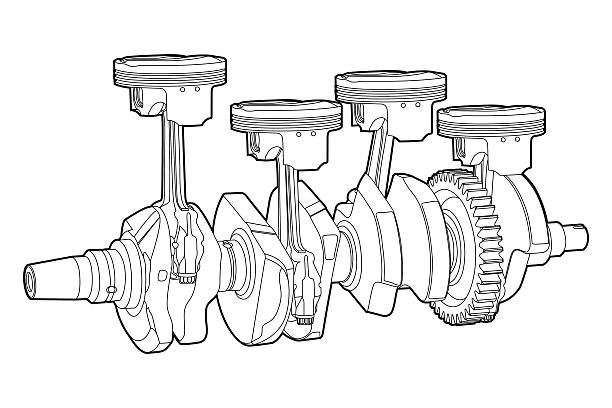 Royalty Free Engine Piston Clip Art, Vector Images