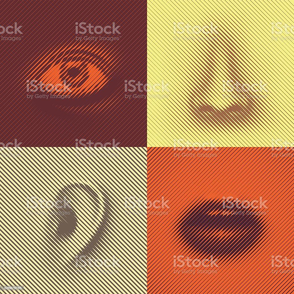 Part of Face vector art illustration