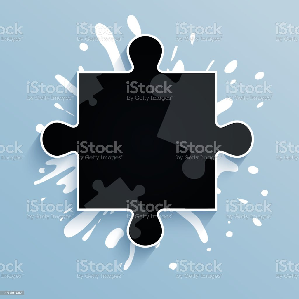 Part of puzzle on a blue background. royalty-free stock vector art