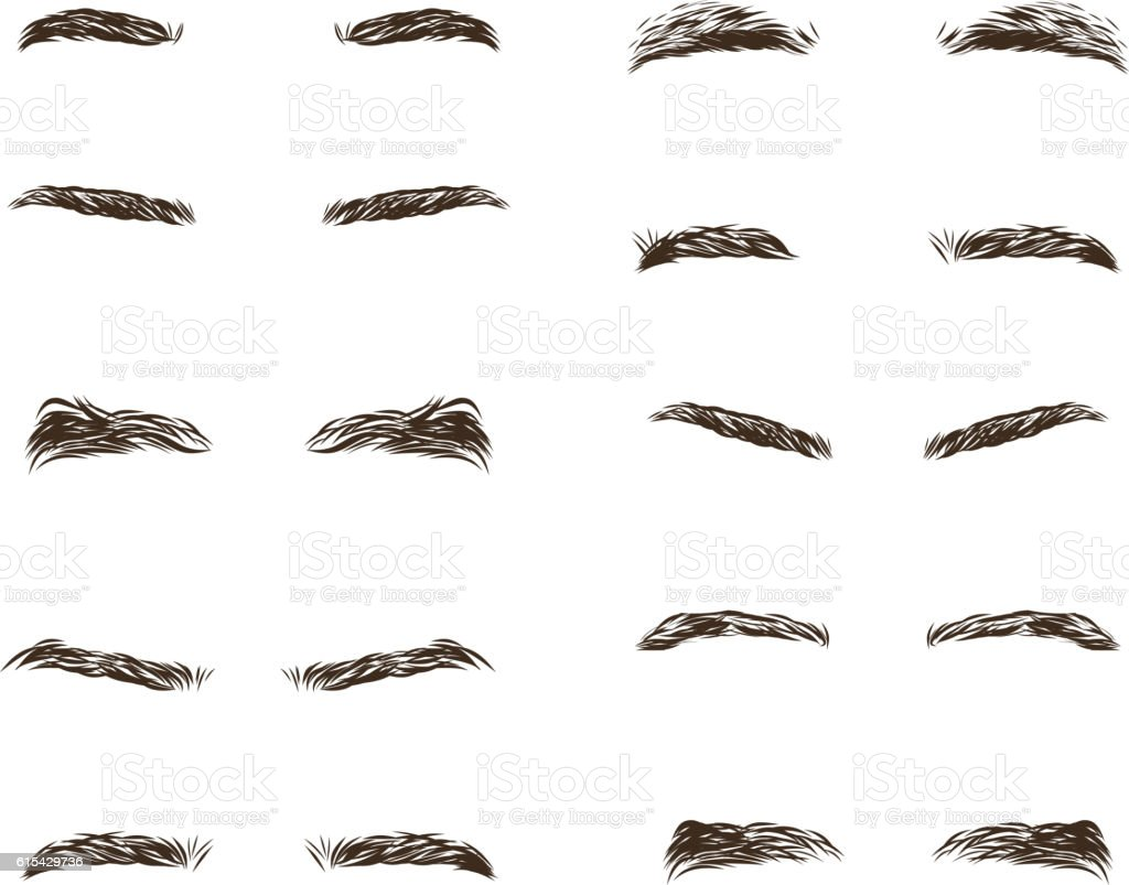 part of the male person s eyebrows.. Vector illustration. vector art illustration