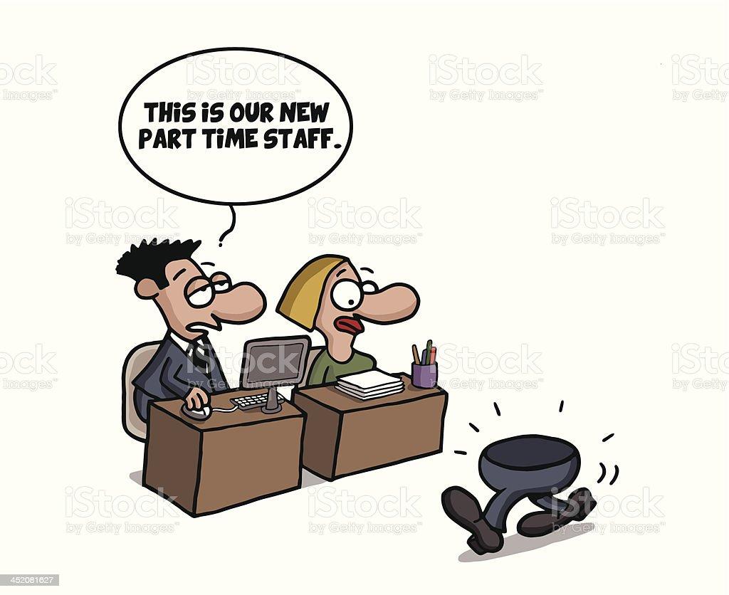 Teilzeit Arbeiter Comic Witz Stock Vektor Art und mehr Bilder von ...