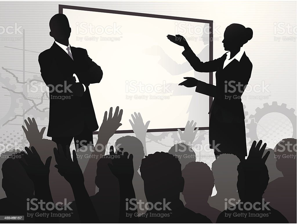 Participatory Audience royalty-free stock vector art