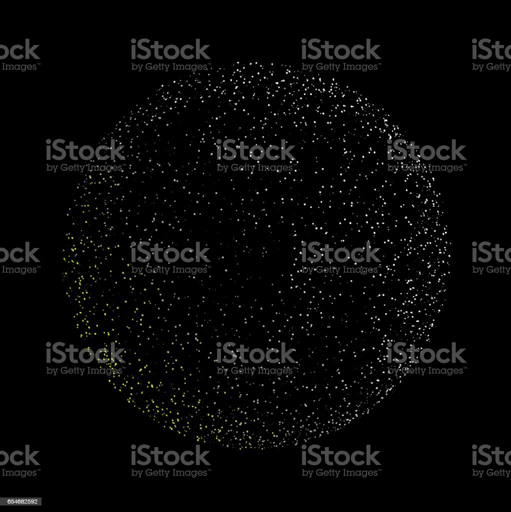 Particle Globe vector art illustration