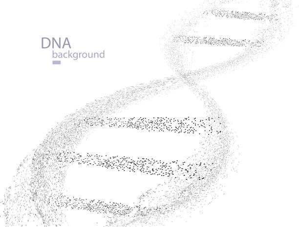 DNA Particles vector art illustration