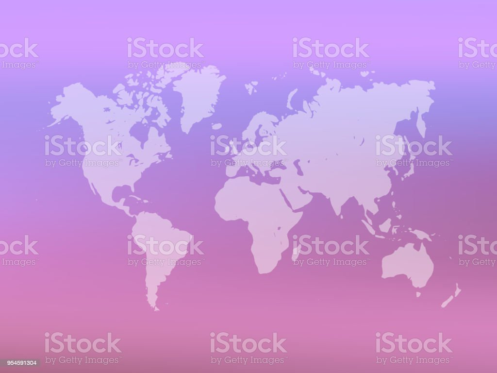 Partly transparent world map silhouette on pink gradient mesh partly transparent world map silhouette on pink gradient mesh background vector illustration royalty free gumiabroncs Choice Image