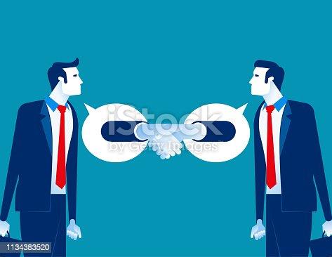 Partner business agreement successful. Concept business vector, Achievement, Team, Handshake.