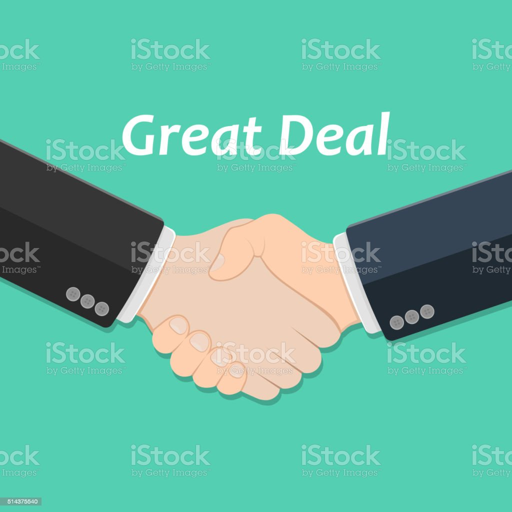 Partner handshake icon vector art illustration
