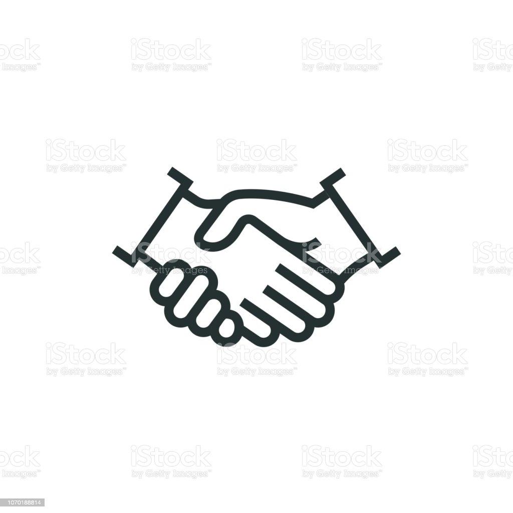 Partnerschap lijn pictogram - Royalty-free Bedrijfsleven vectorkunst