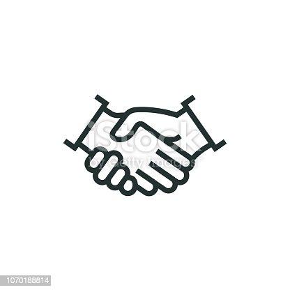 istock Partnership Line Icon 1070188814