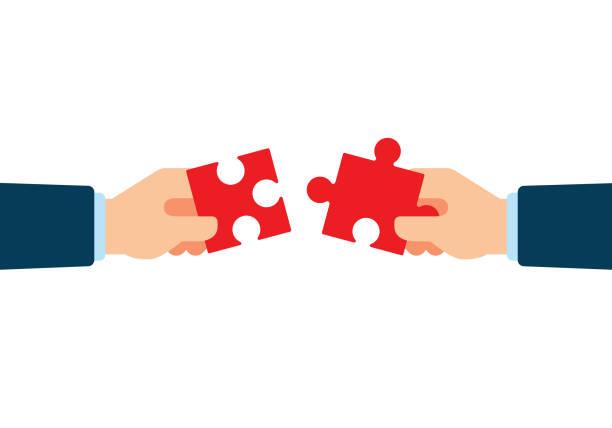 Partnership vector art illustration