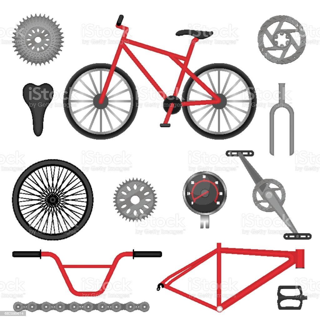 Parts Of Bmx Bike Offroad Sport Bicycle Used For Racing Stock Illustration Download Image Now Istock
