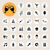 Party and Celebration icon set. Illustration eps10
