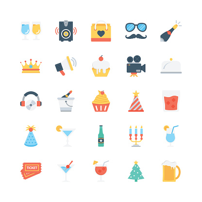 Party and Celebration Vector Icons 1