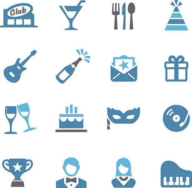 Fête et dîner américain Conc icônes-série - Illustration vectorielle