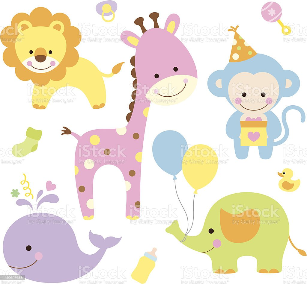 Party Animals vector art illustration