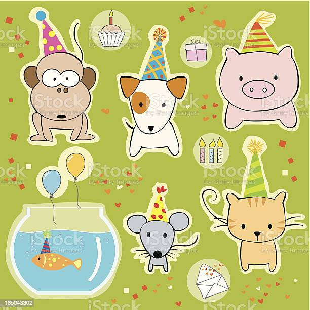 Party animals with hats vector id165043302?b=1&k=6&m=165043302&s=612x612&h=bpwfsy2afdykcgoni1ldouqxszmsk2wqxrrvnyit5mu=